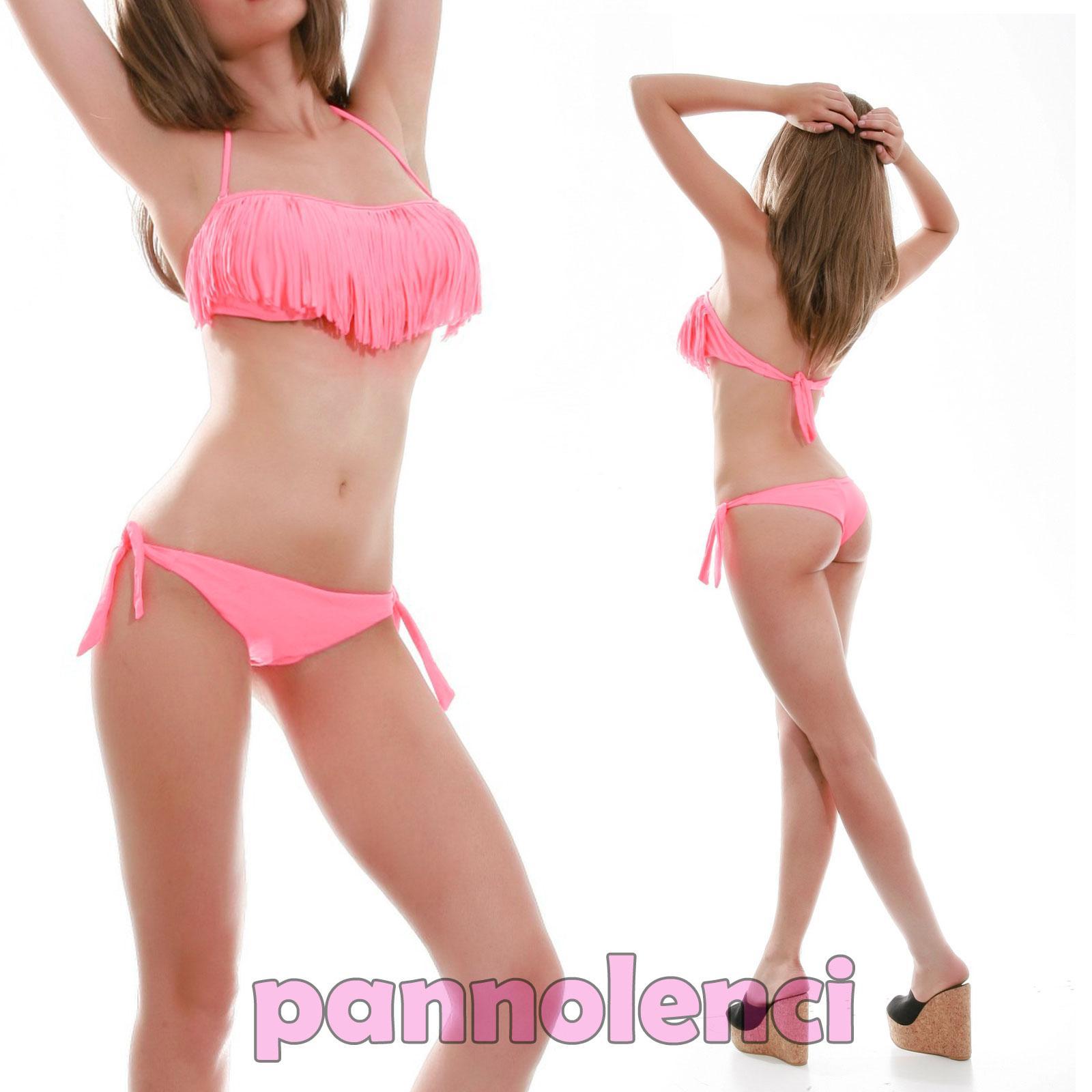 Bikini traje de ba o banda flecos dos piezas moda de ba o - Moda bano ...