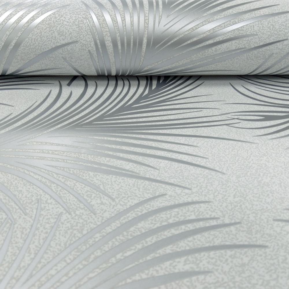 Holden metallisch feder muster tapete blattmotiv modern for Muster tapete