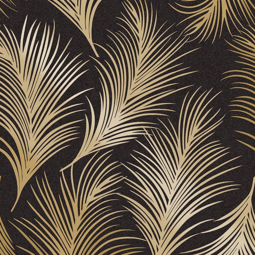 holden metalique plume motif papier peint motif feuille moderne textur exclusif ebay. Black Bedroom Furniture Sets. Home Design Ideas