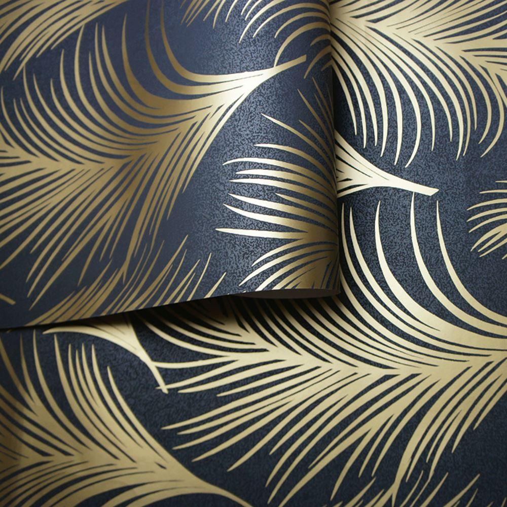 holden metallisch feder muster tapete blattmotiv modern texturiert exklusiv ebay. Black Bedroom Furniture Sets. Home Design Ideas