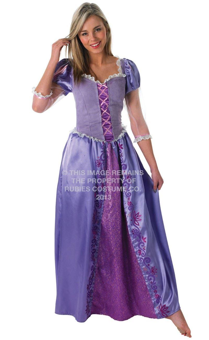 Mujer-Disney-Rapunzel-Enredado-Disfraz-de-Princesa-Cuento-De-Hadas-Disfraz