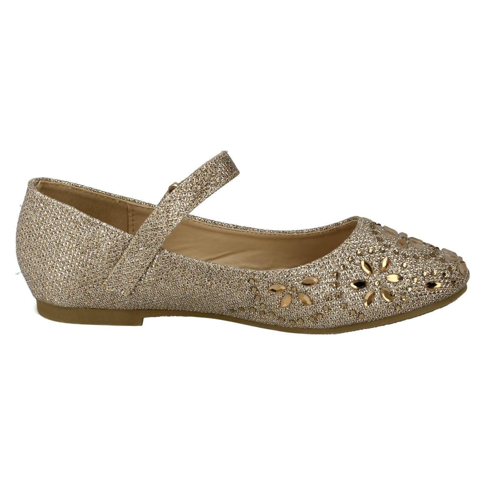 Girls Spot On Ballerina Shoes H2R307
