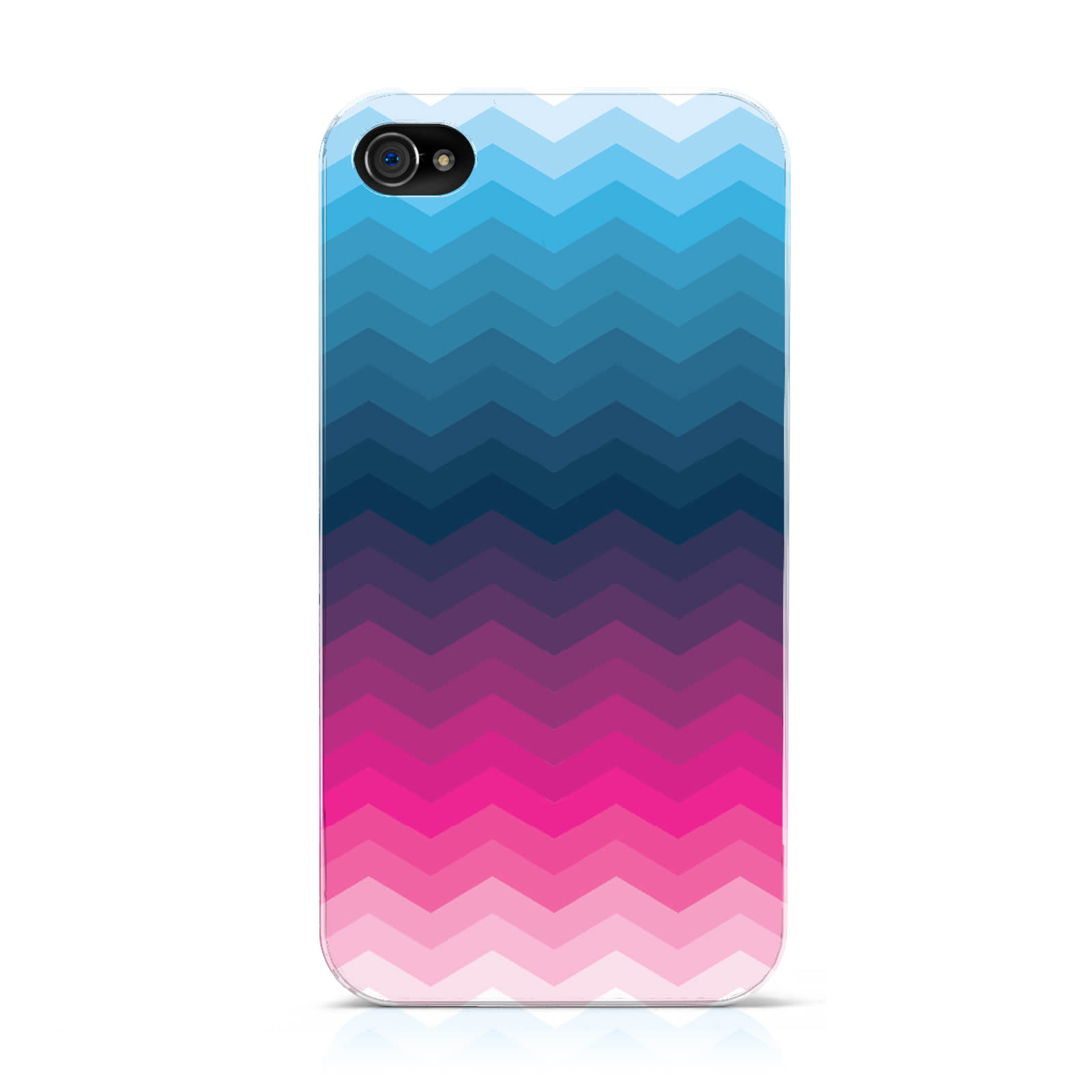 dyefor-OMBRE-Chevron-Azul-amp-Rosa-Funda-para-Apple-iPhone-telefonos-moviles