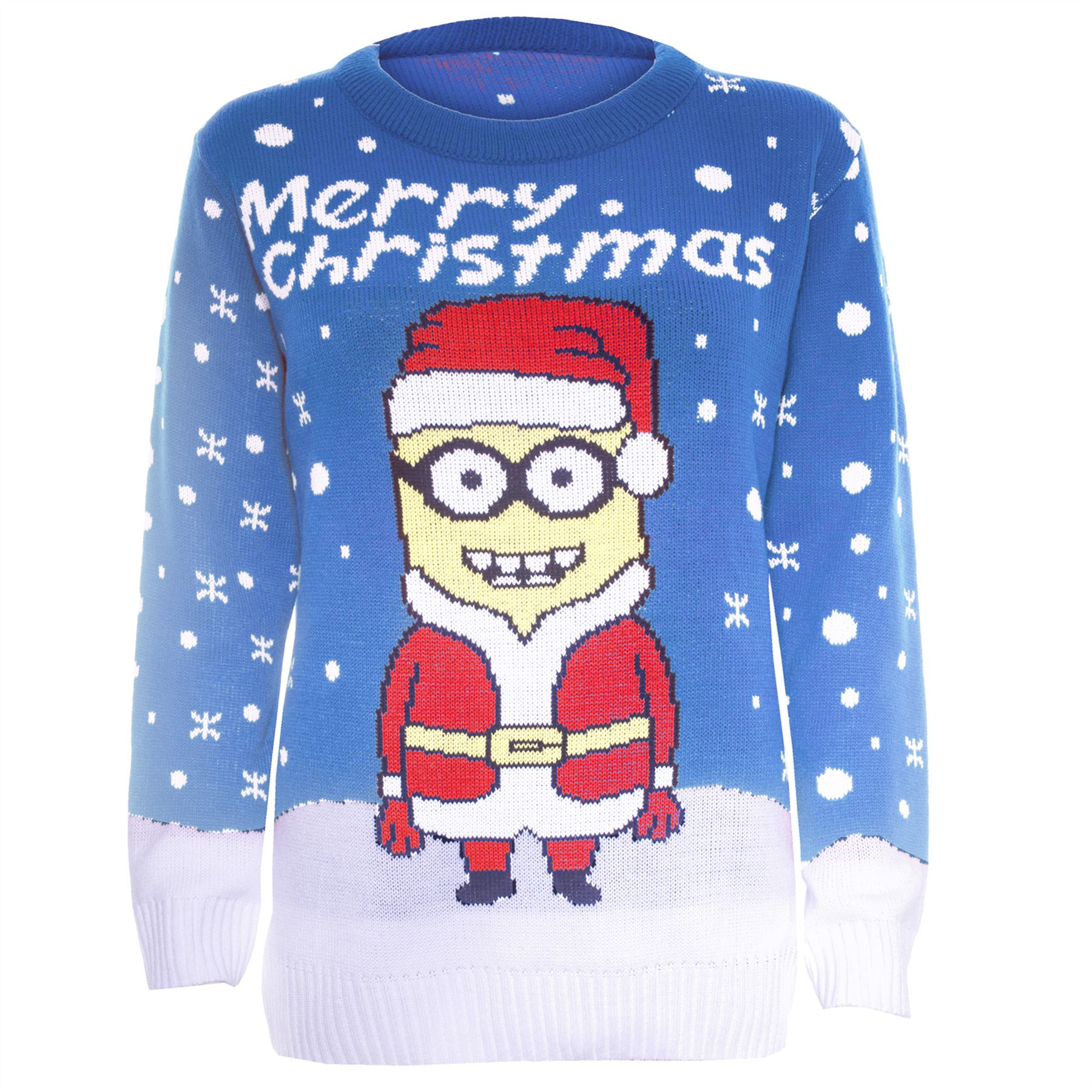 Knitting Pattern For Minion Jumper : Womens Minion Jumper Ladies Santa Knit Novelty Despicable ...