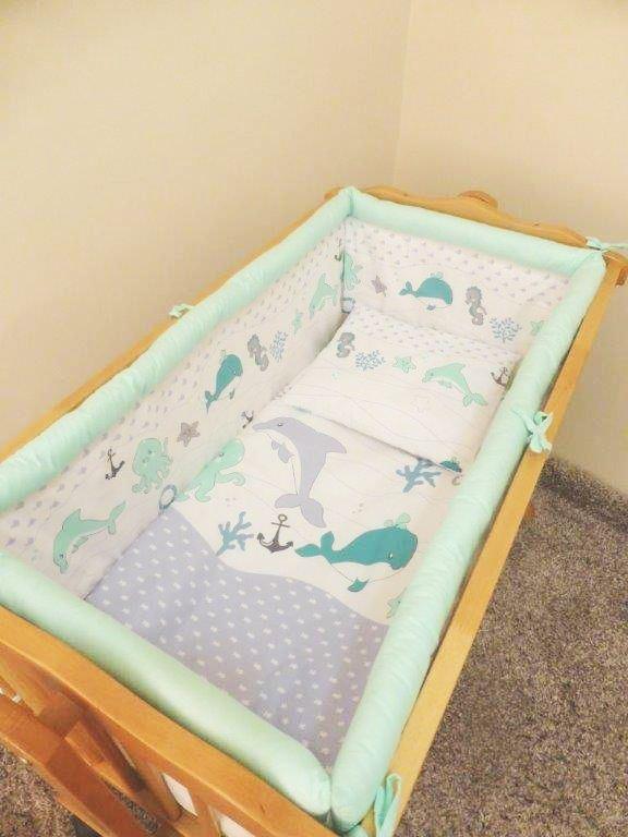 7 pce lettino bambini letto set 90 x 40 baldacchino per a - Letto a dondolo ...