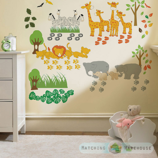 childrens kids themed wall decor room stickers sets bedroom art decal
