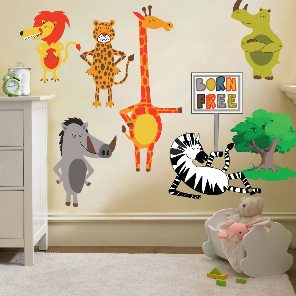 Childrens kids themed wall decor room stickers sets for Wall decals kids room