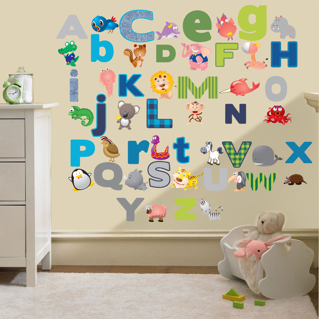 Jungle Themed Wall Stickers Childrens Kids Themed Wall Decor Room Stickers Sets