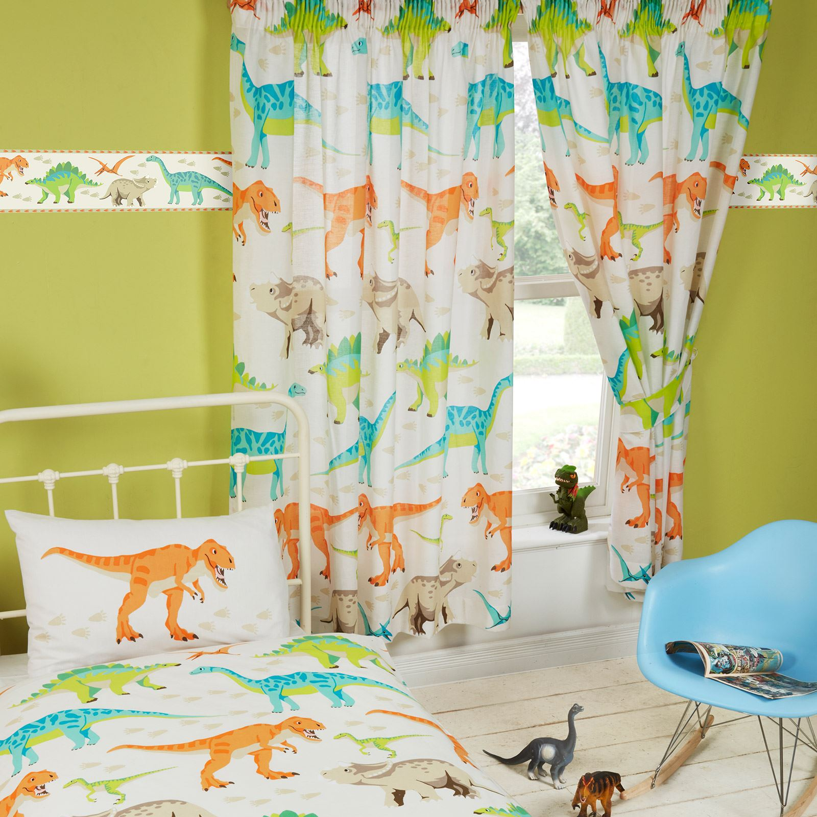 Brighten up your bathroom with unique Boys Dinosaur Shower Curtains from CafePress! From modern curtain designs to patterned black and white shower curtains, you'll find the perfect one for you!