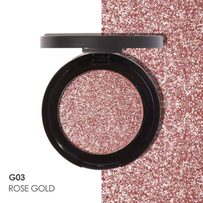 Premere-Polvere-Glitter-Metallico-Ombretto-Scintillante-Trucco-Palette-Ombretto