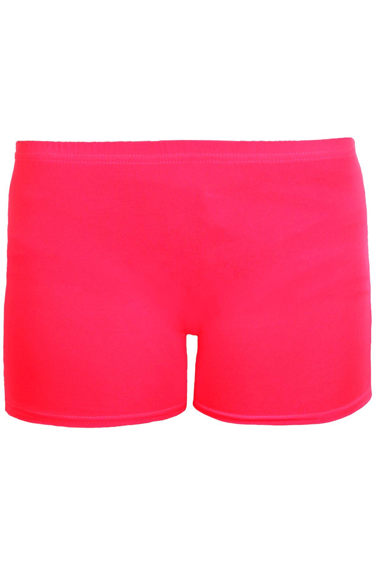 Filles-Lycra-Coton-Extensible-Gym-Gymnastique-Danse-Enfants-Neon-Shorts