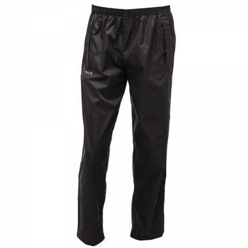 Regatta-Pack-It-RMW149-ligero-Hombre-Pantalones-lluvia-pequeno-packingsize