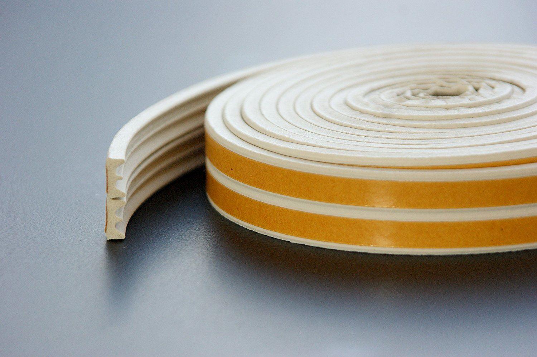 joint caoutchouc epdm tanch it isolant bande adh sive fen tre porte blanc ebay. Black Bedroom Furniture Sets. Home Design Ideas