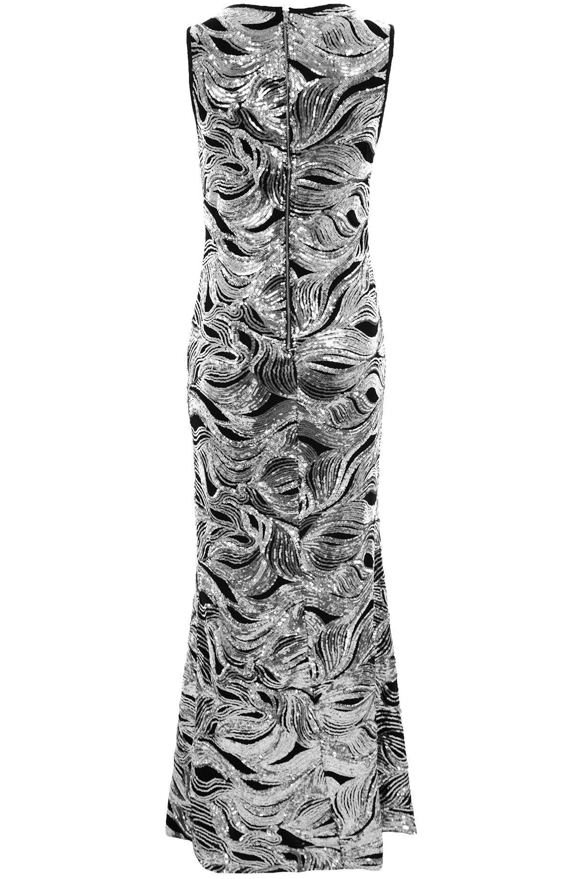 Damen Ärmellos Paillette Gefüttert Lang Bodycon Seitenschlitz Sexy Sexy Sexy Formelle   Verbraucher zuerst    New Product 2019    Bekannt für seine hervorragende Qualität  1ec5b4