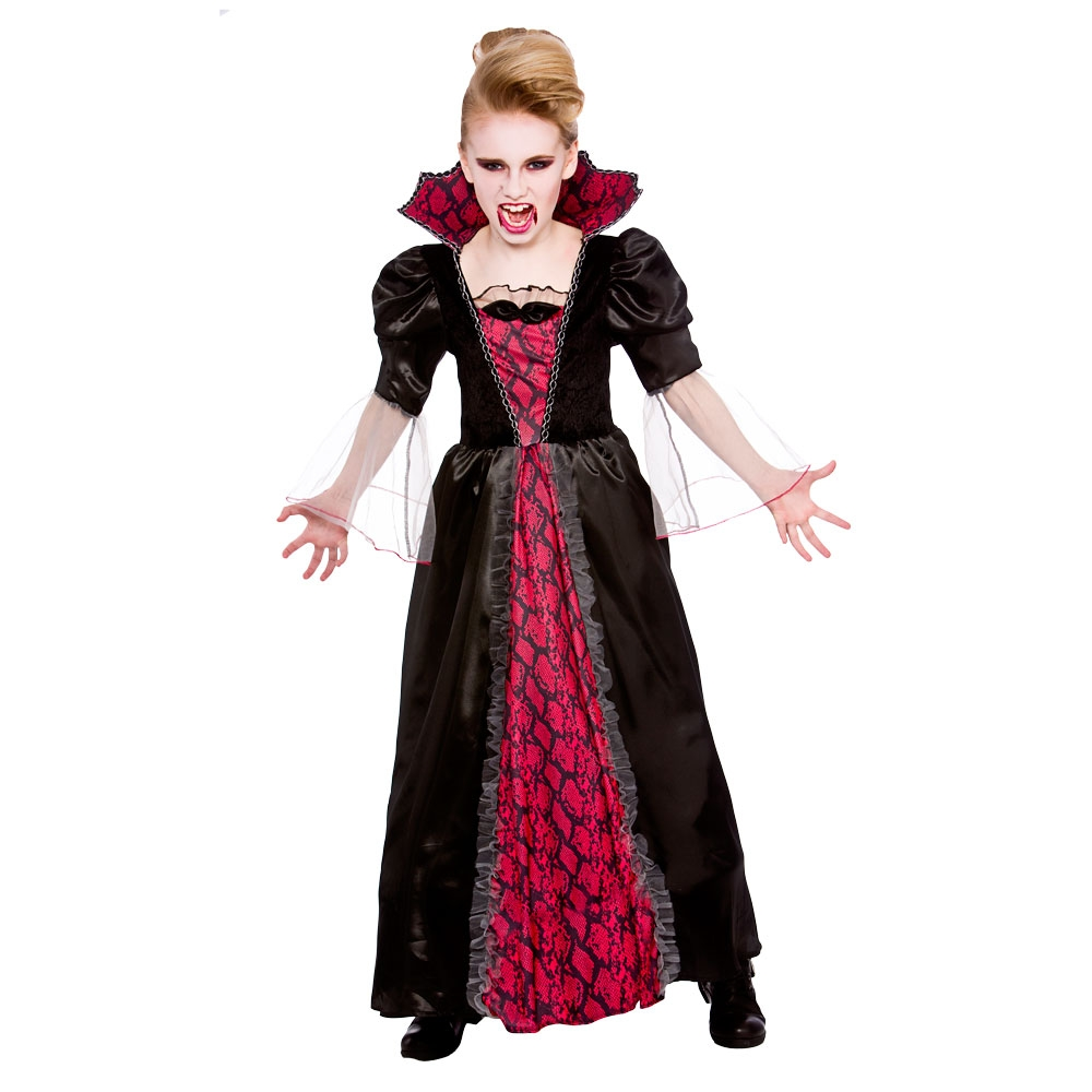 girls vampire costume gothic vampiress fancy dress dracula