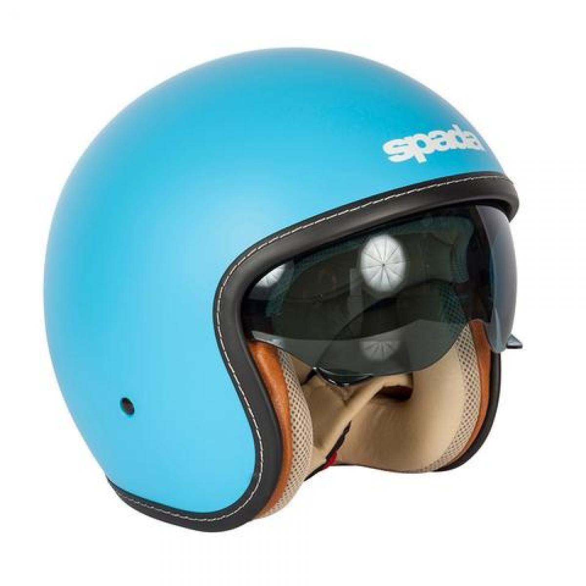 Spada-Raze-Ouvert-Casque-Bleu-Integre-Visiere miniature 12