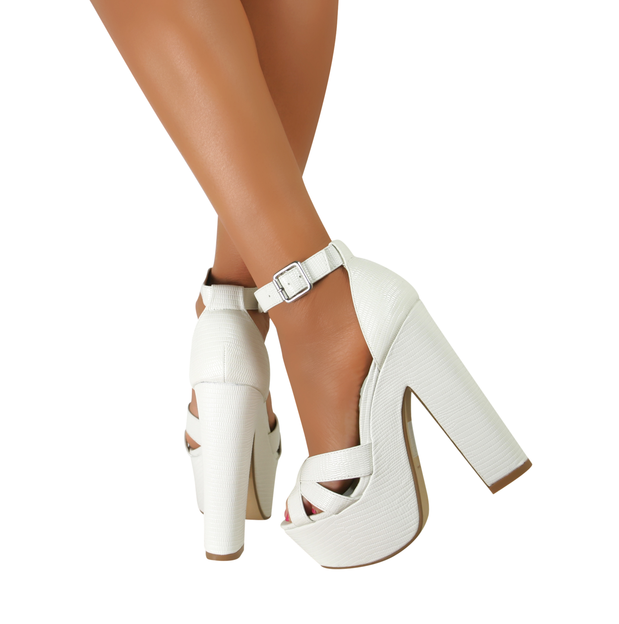 block heel ankle sandals strappy chunky peep