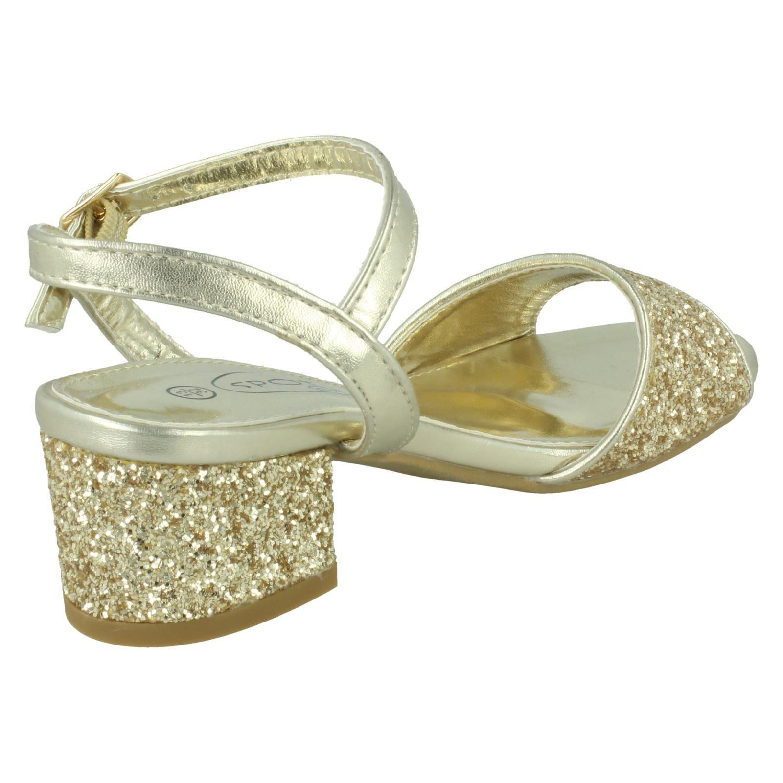GIRLS SPOT ON  H3R046 SILVER SHOES