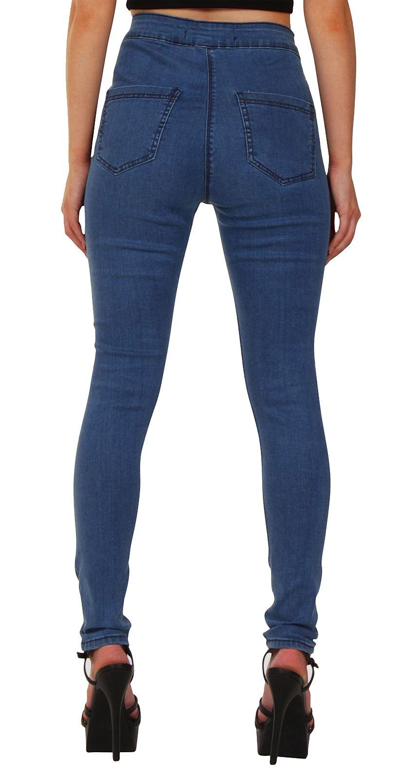 neu damen zerrissen skinny h fthohe jeans einfarbig tarnfarben aufdruck ebay. Black Bedroom Furniture Sets. Home Design Ideas