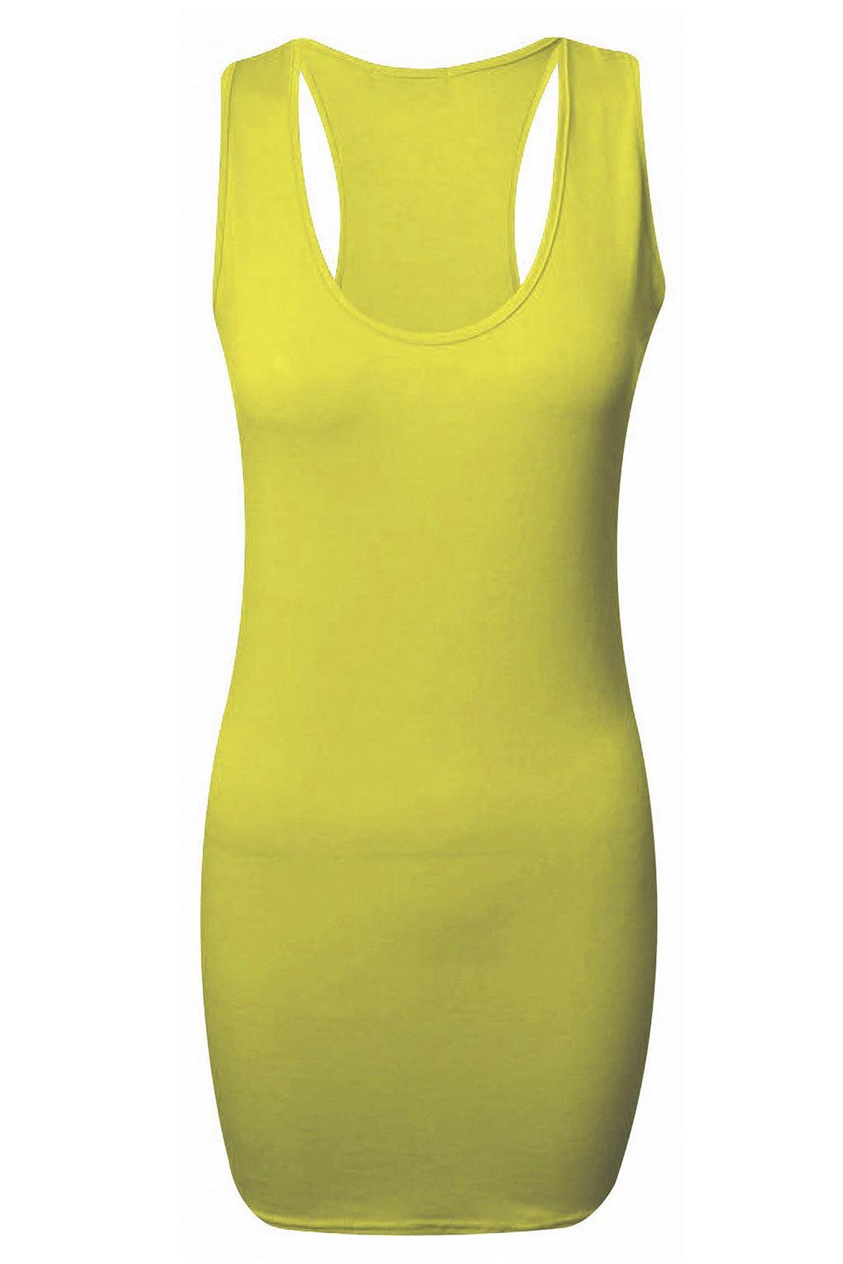 Mujer-musculos-DORSALES-corredora-Vestido-cenido-sin-mangas-mujer-Todos-Colores
