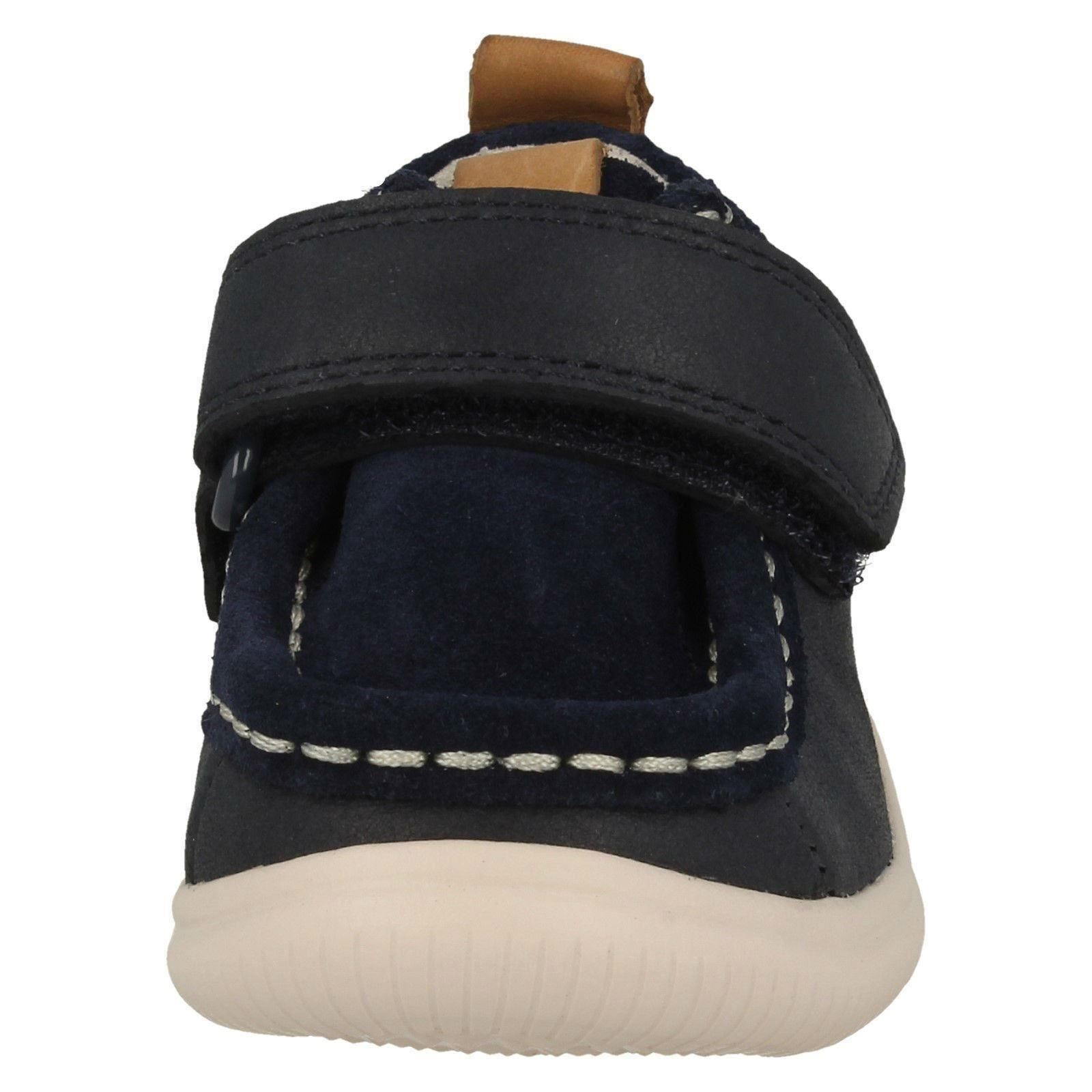/'Cloud Sea/' Boys Clarks Casual Hook and Loop Fastening Leather Shoes