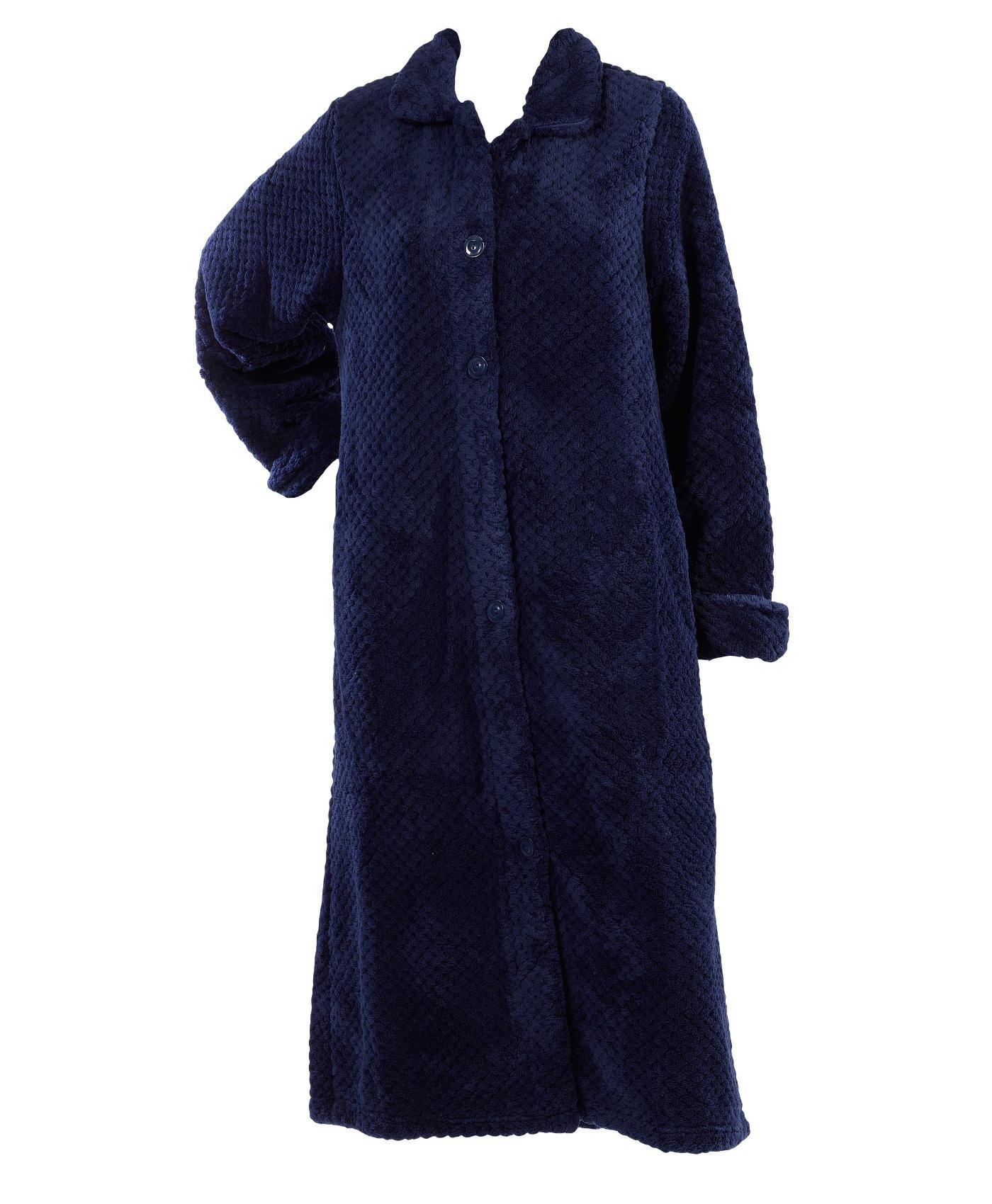 weich waffel fleece bett jacke oder bademantel damen slenderella nachtw sche ebay. Black Bedroom Furniture Sets. Home Design Ideas