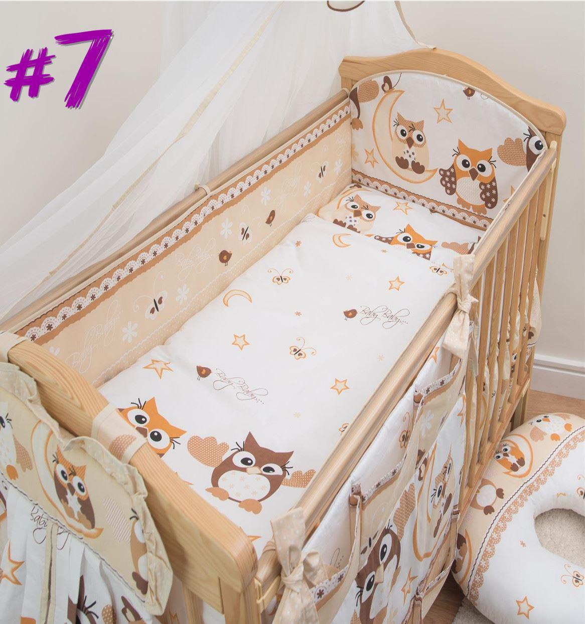 Kinderzimmer Baby Krippe Nestchen 140x70 / 420 cm Kleinkind Lang ...