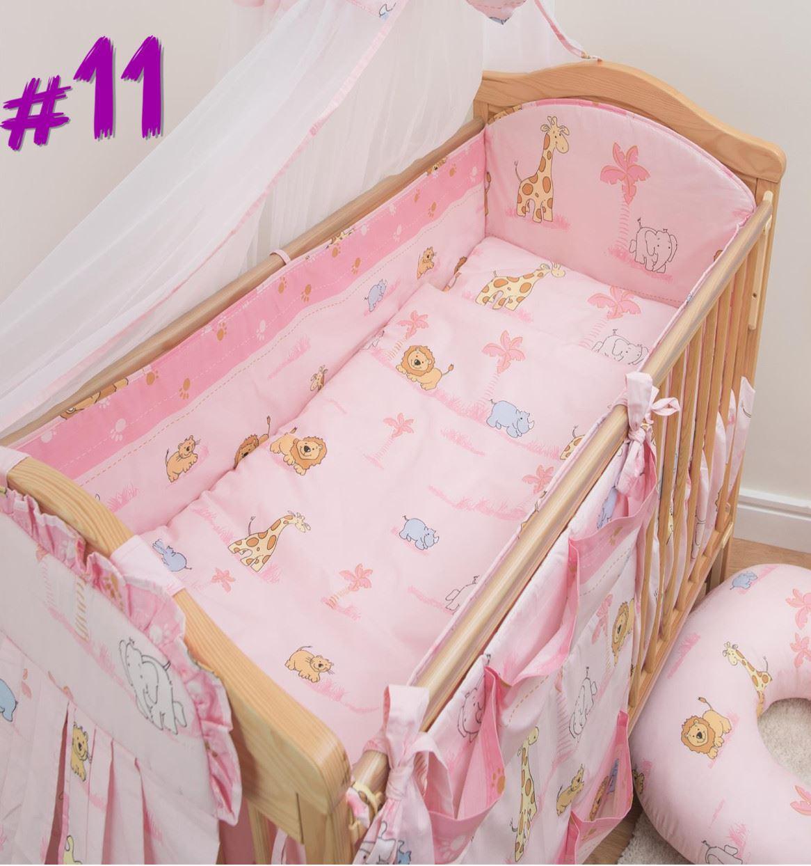 lang rundherum gitterbett nestchen gr en passend f r baby kinderzimmer ebay. Black Bedroom Furniture Sets. Home Design Ideas