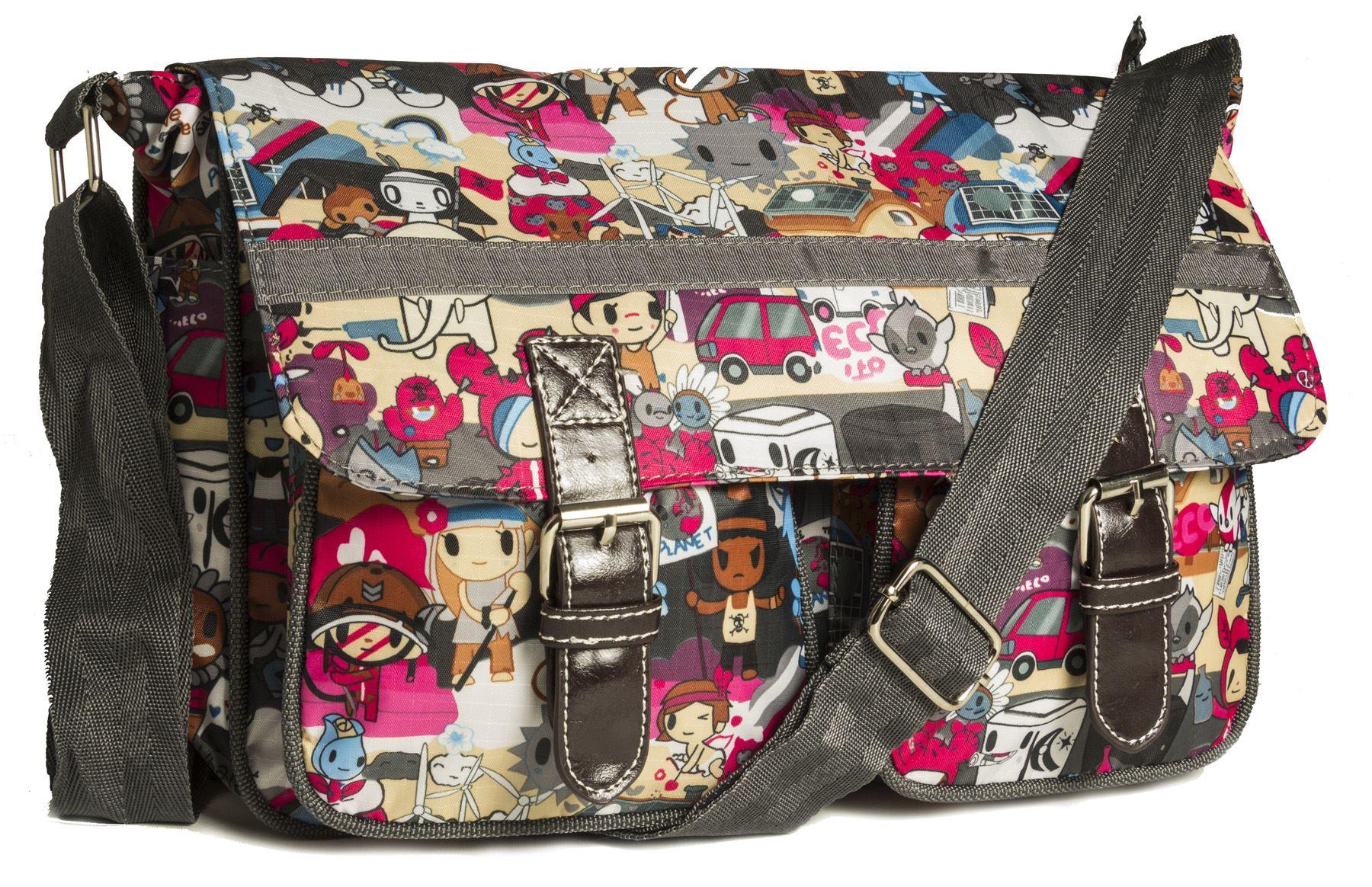 Big Handbag Shop Unisex Taschen Mit Reißverschluss Cartoon Leicht