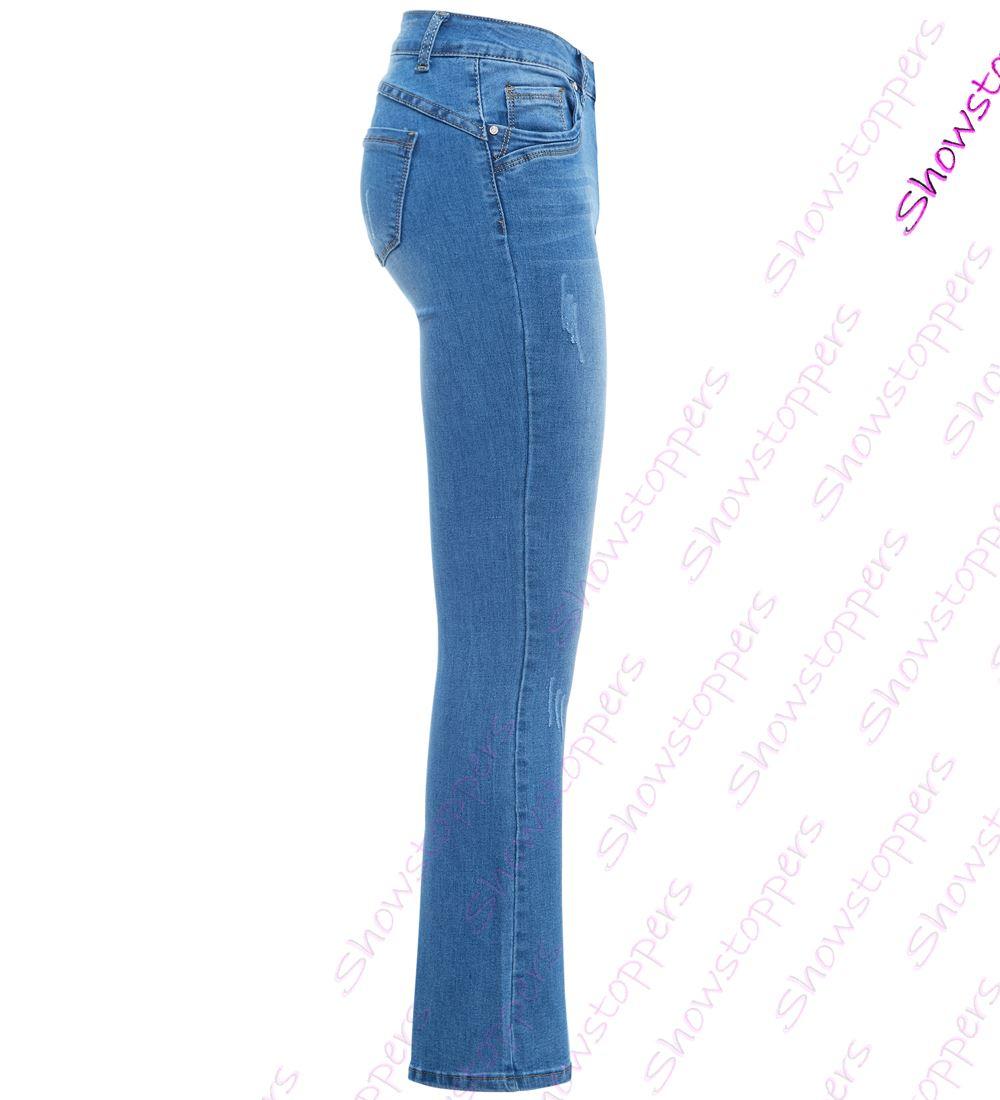 02810811c16bd femmes Slim Fit Jean évasé évasé JEANS JEANS BOOTCUT TAILLE 10 12 14 ...