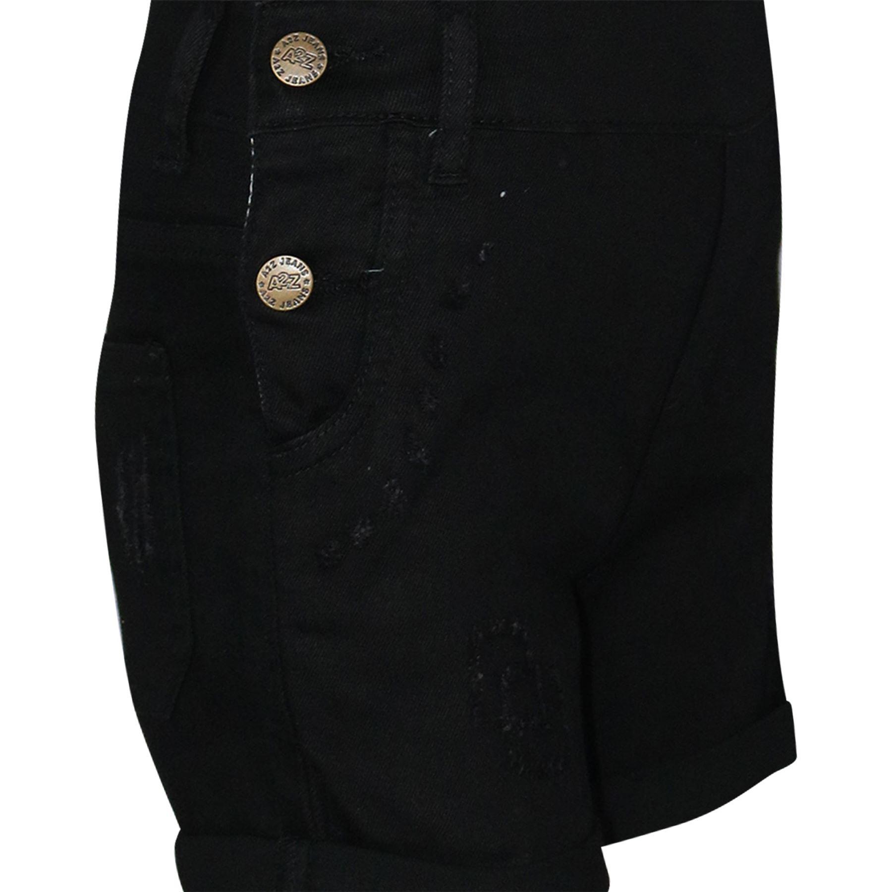 Indexbild 6 - Kinder Mädchen Latzhose Shorts Denim Gerippt Stretch Jeans Overall 5-13 Jahr