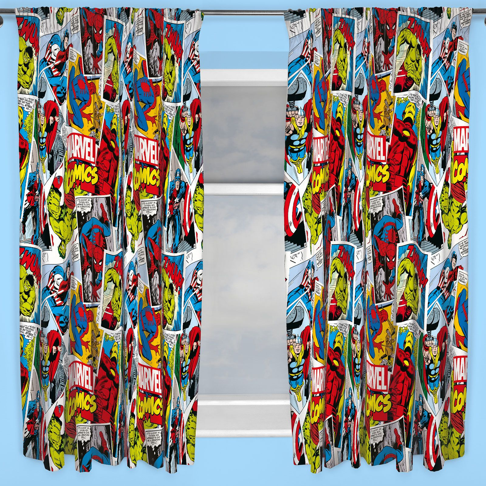 BOYS BEDROOM CHARACTER CURTAINS MARVEL STAR WARS PAW