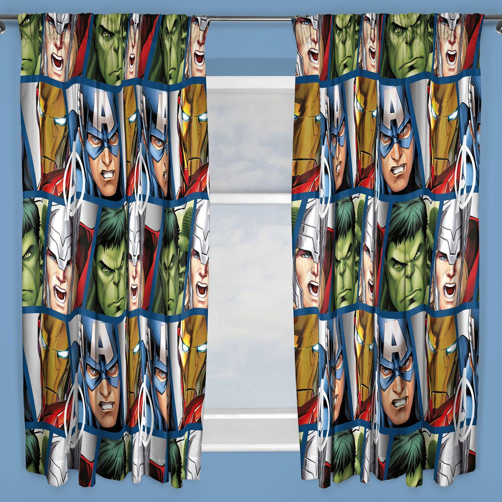 Chambre Garcon Marvel : Chambre à coucher garçons personnage rideaux marvel star