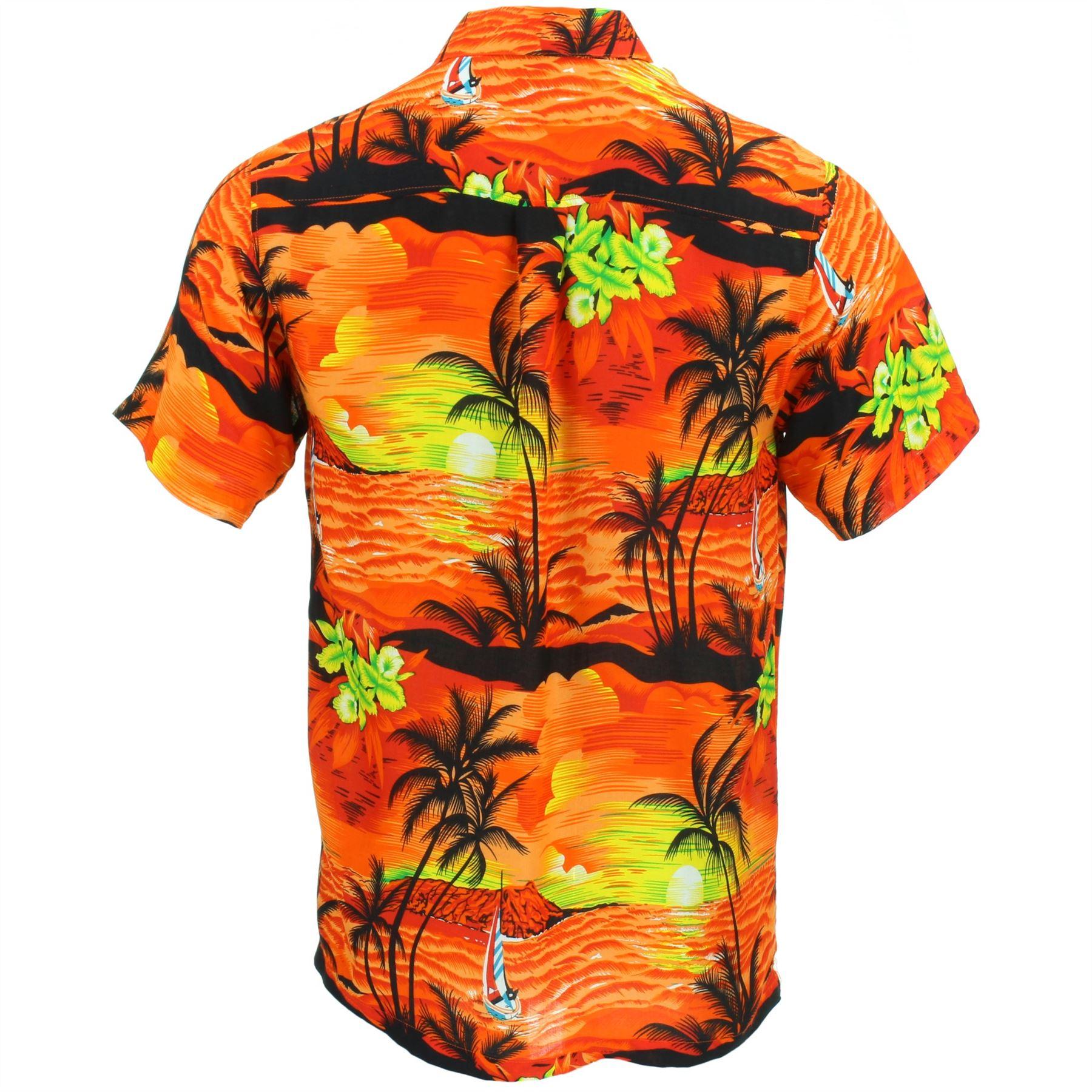 ecc618684 Camisa-Hawaiana-Hombre-Manga-Corta-Palmeras-Fiesta-Aloha miniatura