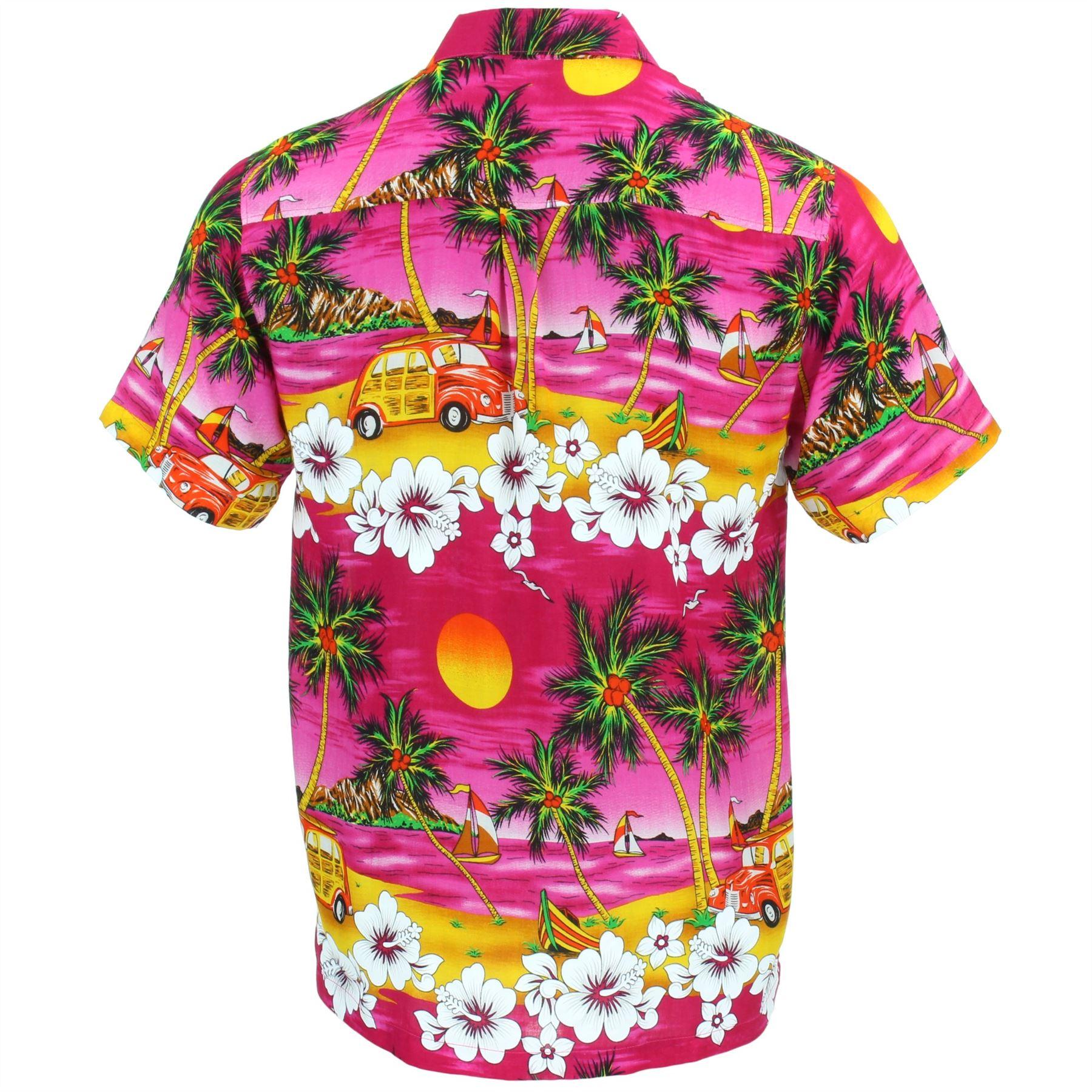 24c7a10aaae Hawaiian Shirt Mens Short Sleeve Camper Van Party Aloha Beach Stag ...