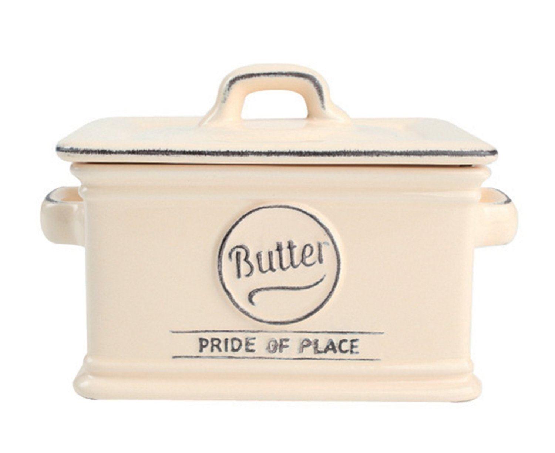 T-amp-G-Woodware-Pride-of-Luogo-Ceramica-Piattini-Per-Burro-Piatto-in-Vari-Colori