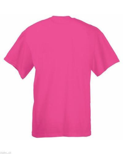 Tee-Shirt-TShirt-NEW-UK-Fruit-of-the-Loom-100-Cotton-Plain-Blank-Men-039-s-Children