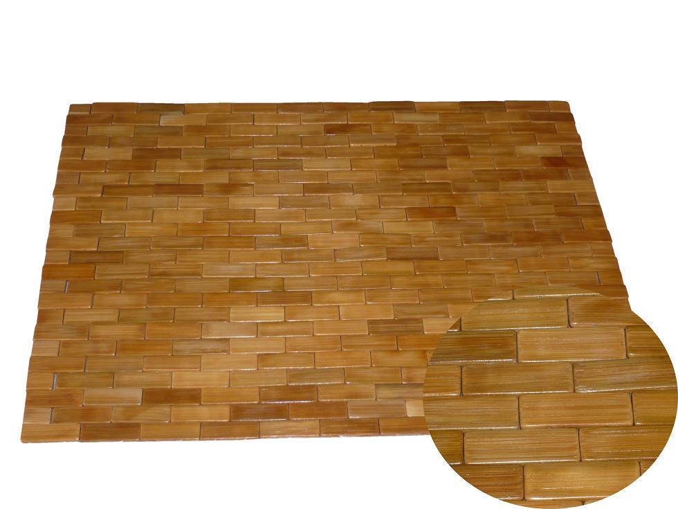 tapis de bain bois de bambou teck tapis bois salle de bains sauna wc ebay. Black Bedroom Furniture Sets. Home Design Ideas