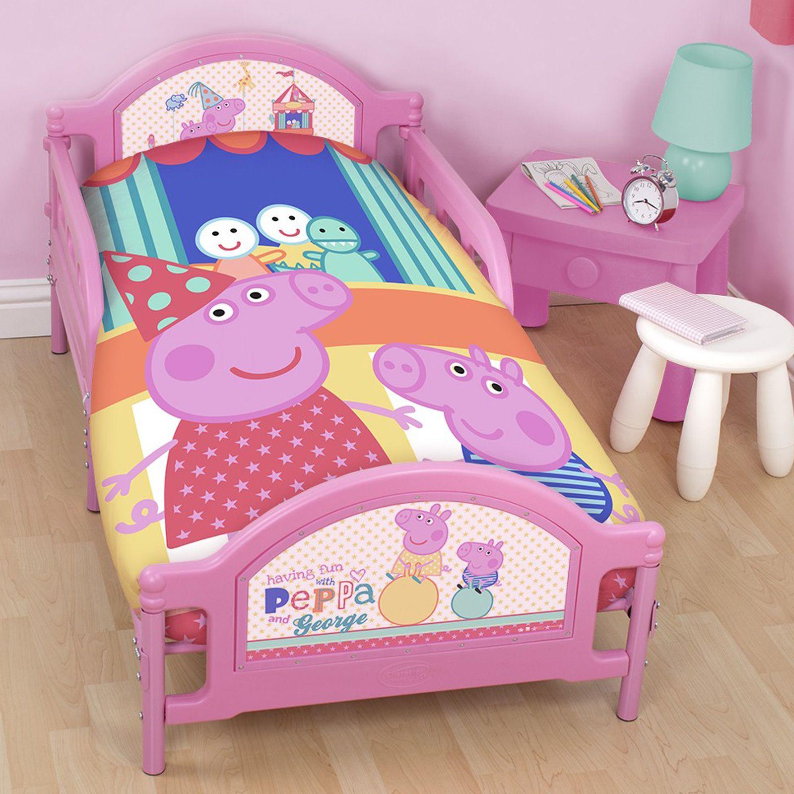 PEPPA PIG 'FUNFAIR' JUNIOR COT BED DUVET COVER NEW OFFICIAL   eBay