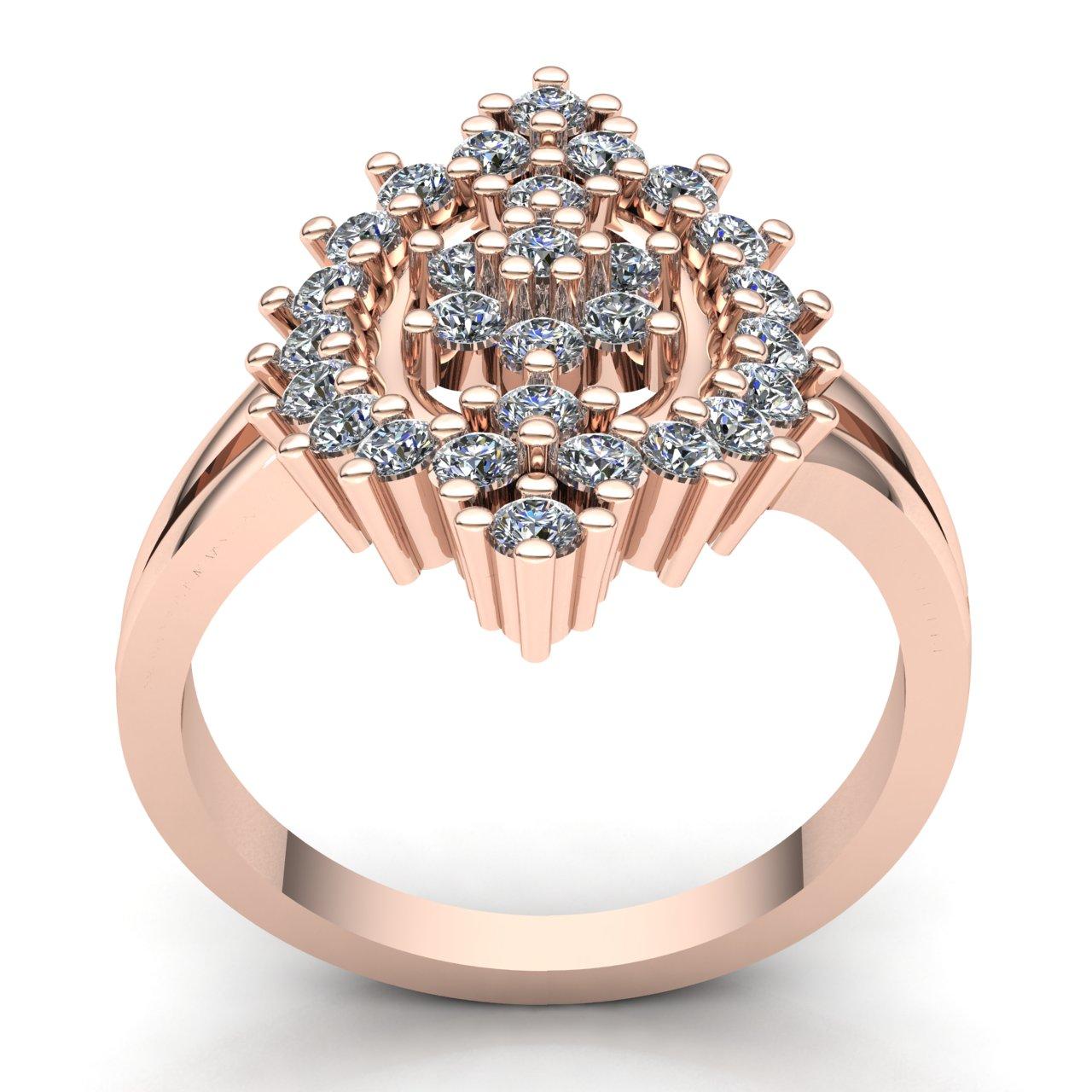 1-Quilate-Diamante-Brillante-Redondo-Mujer-Novia-Flor-Halo-Anillo-de-Compromiso miniatura 8