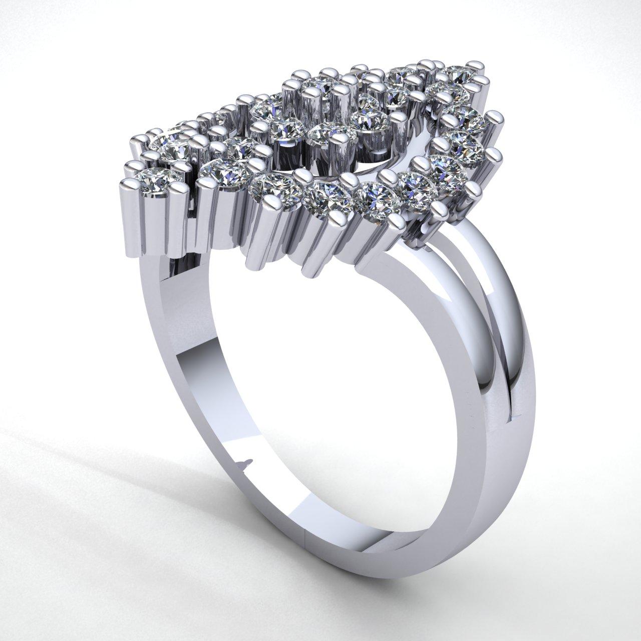 1-Quilate-Diamante-Brillante-Redondo-Mujer-Novia-Flor-Halo-Anillo-de-Compromiso miniatura 10