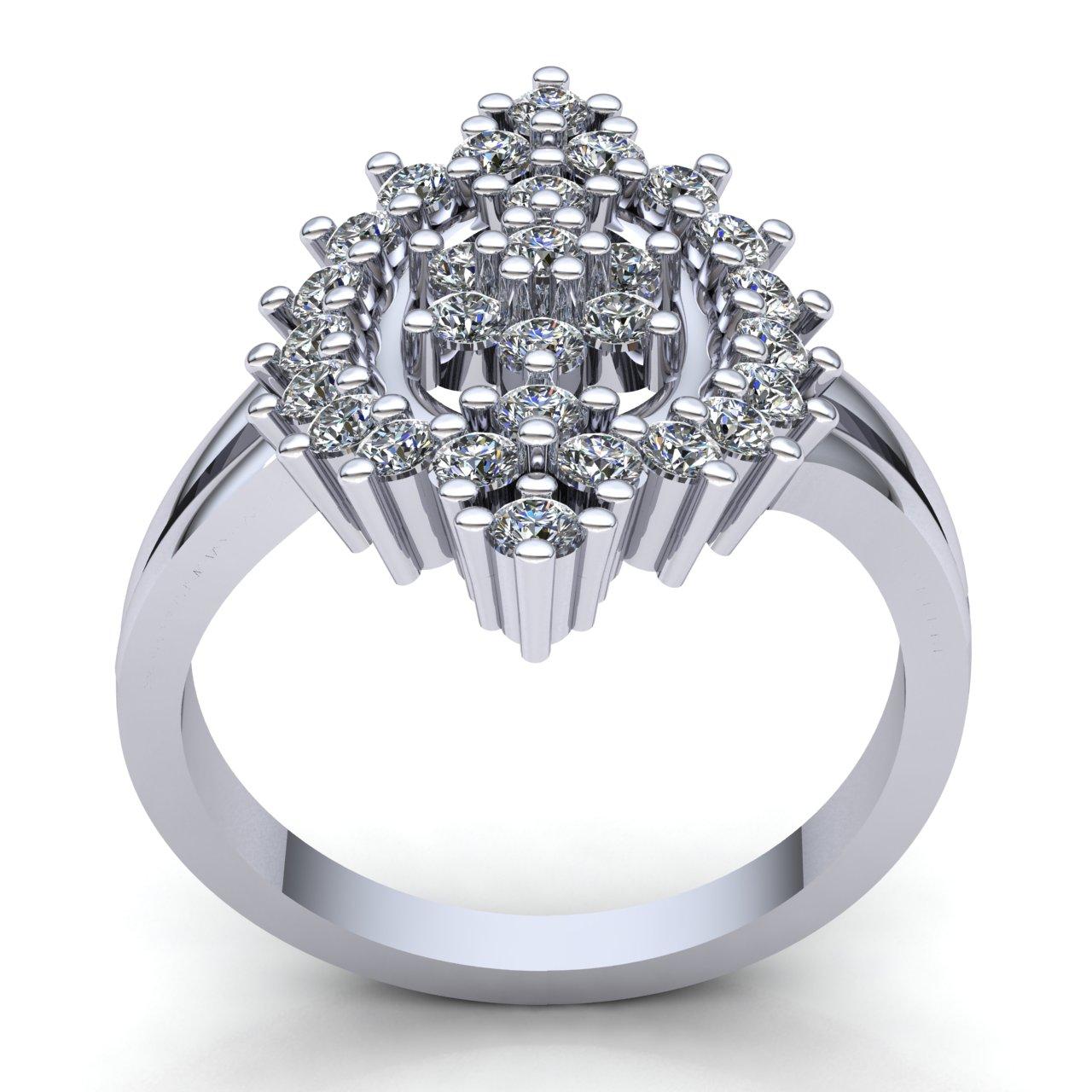 1-Quilate-Diamante-Brillante-Redondo-Mujer-Novia-Flor-Halo-Anillo-de-Compromiso miniatura 11