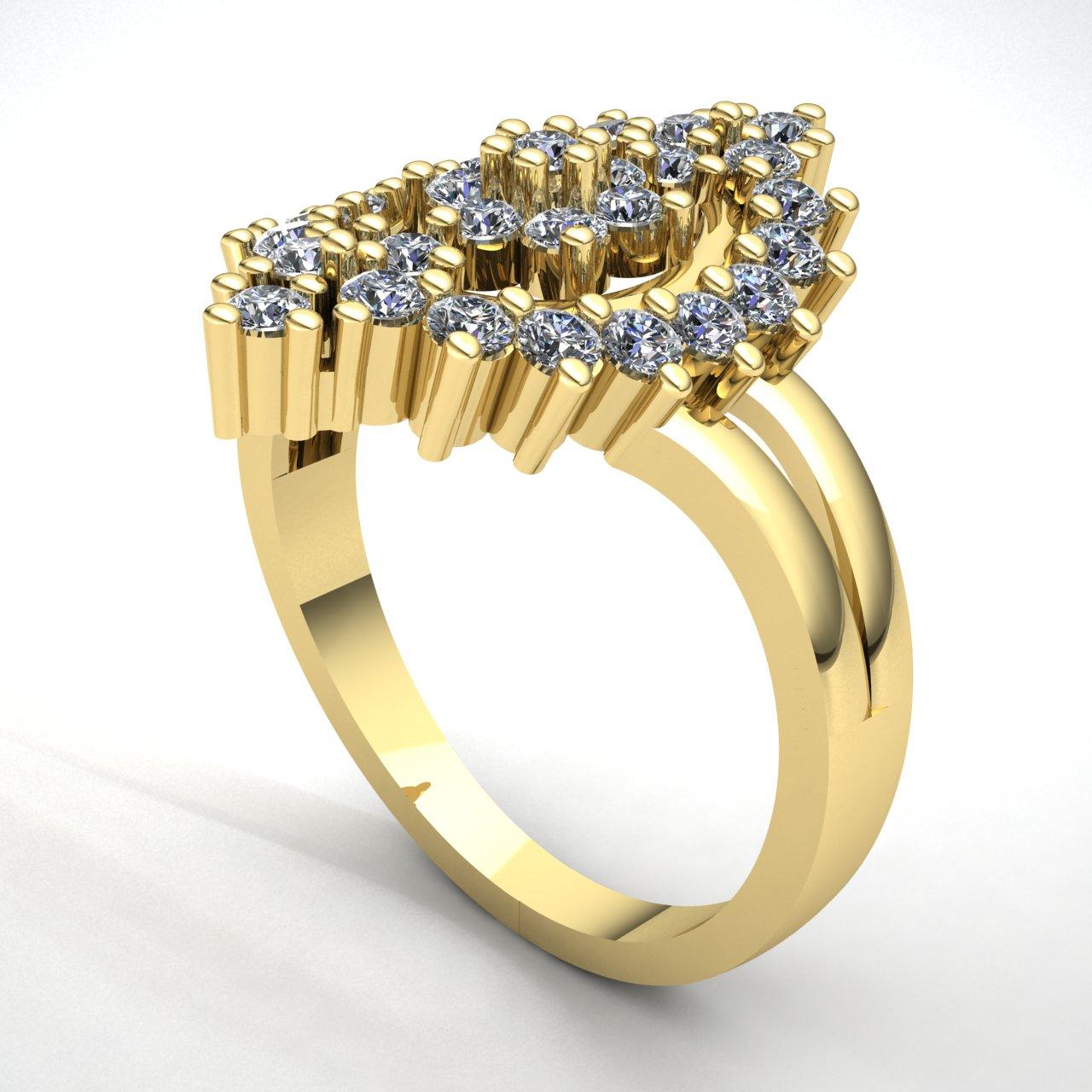 1-Quilate-Diamante-Brillante-Redondo-Mujer-Novia-Flor-Halo-Anillo-de-Compromiso miniatura 13