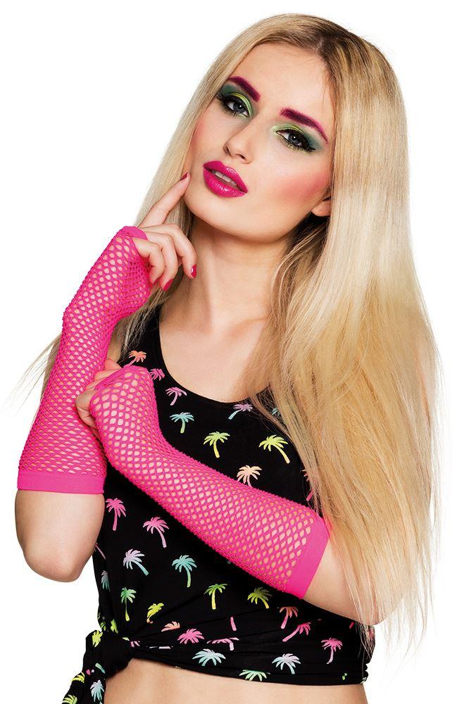 mujer-mallas-Fluorescentes-Tanga-Guantes-ANOS-80-Disfraz-Accesorio