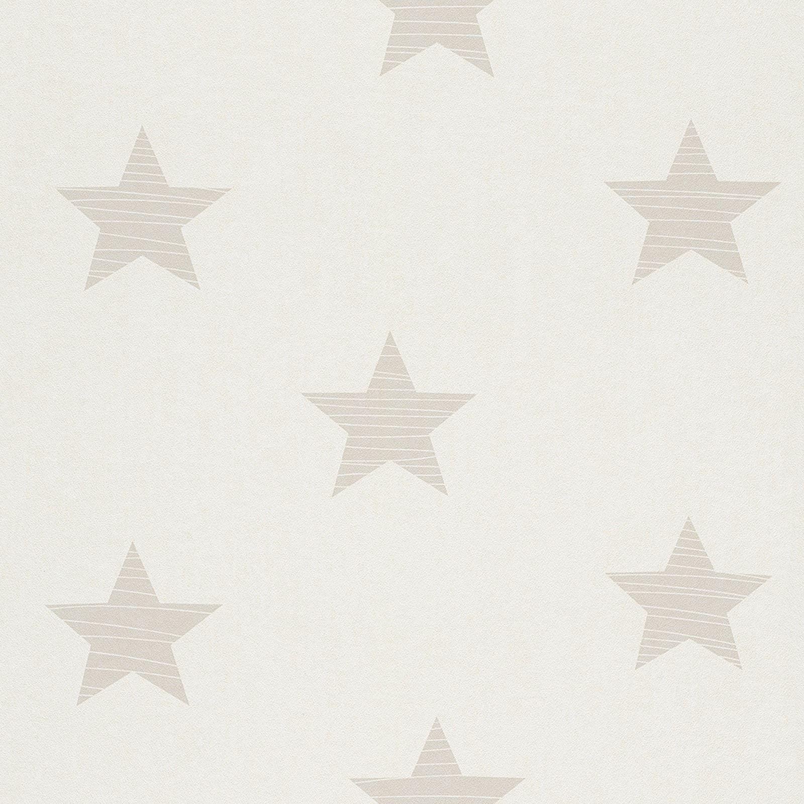 Rasch étoiles Papier Peint Décoration murale - Gris, bleu, blanc et ...