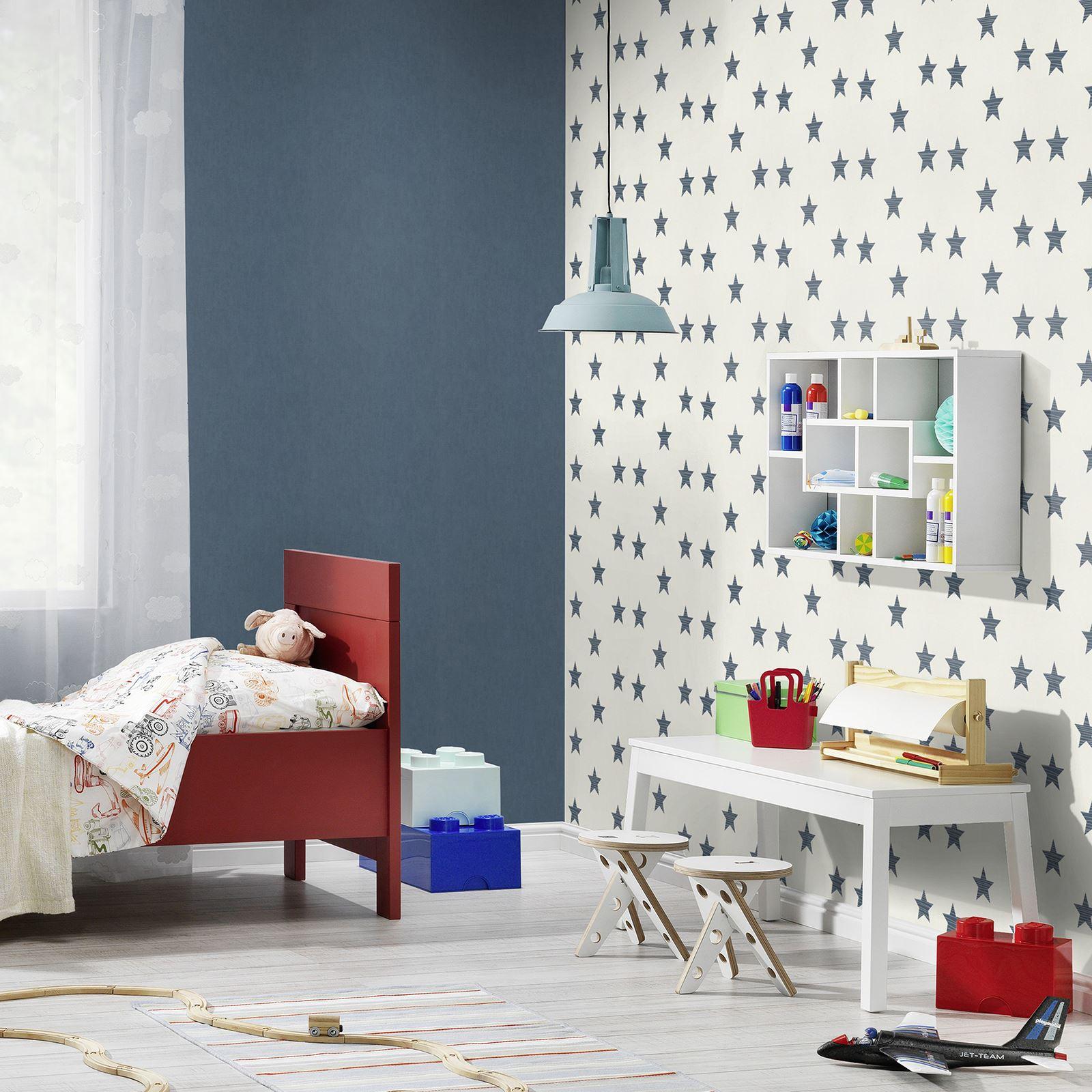 Details zu Rasch Stars Tapete - Kinder Schlafzimmer / Kinderzimmer Grau  Rosa Blau
