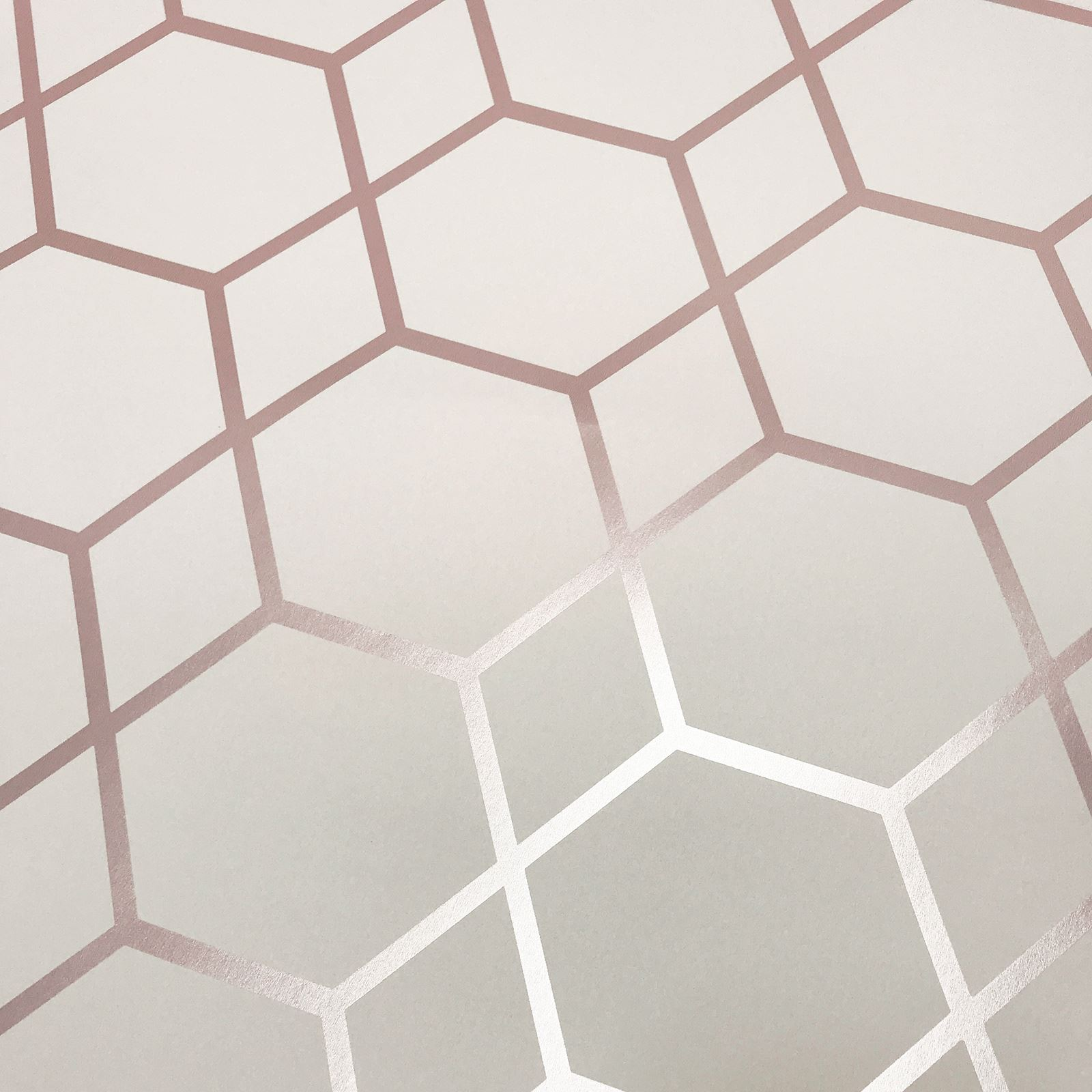 Muriva Casca Geometric Metallic Wallpaper Diamonds Hexagons Silver