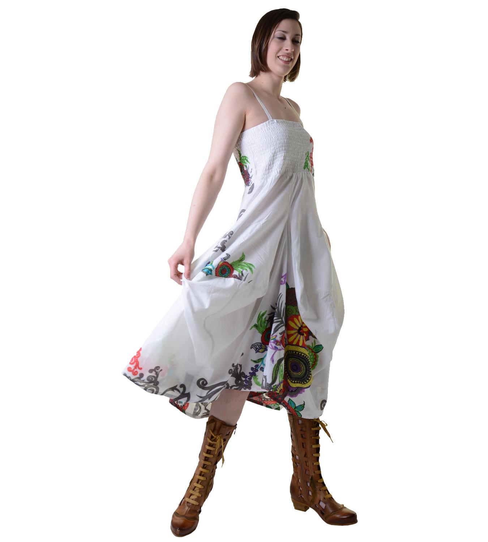 Colourful Goa Summer Dress With Trendy Floral Pattern Von Kunst Und