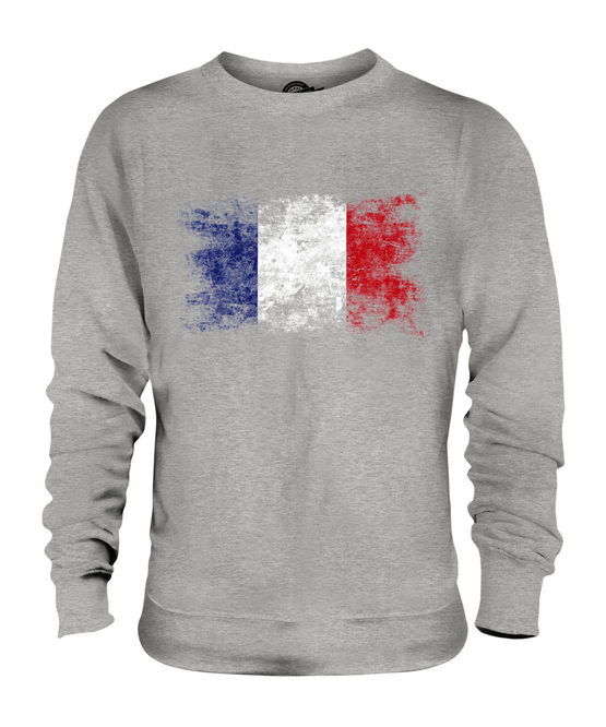Frankreich Distressed Flagge Flagge Flagge Unisex Pullover Top Französisch dfd525
