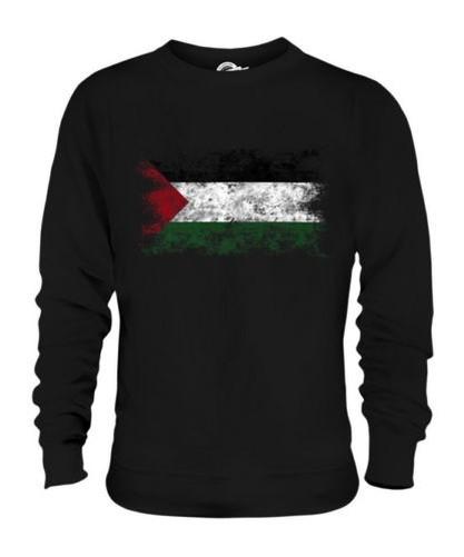 Palestine Drapeau Délavé Unisexe Pull Filastin Palestinien Cadeau T-Shirt